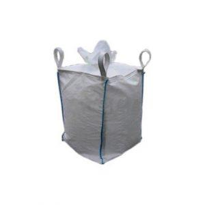 Big bag 90x90x100 cm com saia de carga e sem boca de descarga; swl 1.000 kg; porta documentos a4