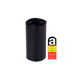 Sacos de Resíduos Preto com etiquetas